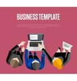 Business template Top view group of people vector image