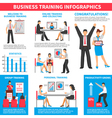Business Training Infographics vector image vector image