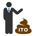 businessman show ito shit flat icon vector image vector image