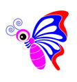 butterfly cartoon vector image