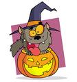 Cartoon Character Halloween Werewolf vector image vector image