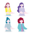 characters cartoon portrait female young women vector image vector image