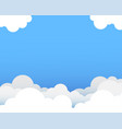 cloud with blue sky background vector image