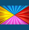 comic colorful explosive composition vector image