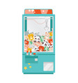 crane game doll machine flat vector image vector image
