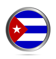 Cuba flag button vector image vector image