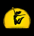 dancer hip hop street dance b boy dance action vector image