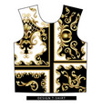 design scarf with golden baroque elements vector image vector image