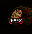 dinosaur sport mascot logo design vector image vector image