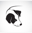 dog head design on white background pet vector image vector image
