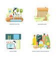 eco friendly home icons vector image