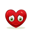 Emoticon with big sad heart vector image vector image