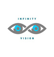 Eyes in the infinity sign shape logo vector image vector image