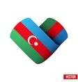 Flag icon in the form of heart I love Azerbaijan vector image vector image