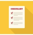 Flat Style Icon with Long Shadow A checklist vector image vector image