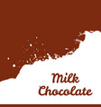 fresh milk chocolate splash stream vector image vector image