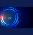 futuristic technology data visualization banner vector image vector image