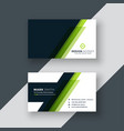 geometric green business card design vector image vector image