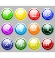 Glossy colore buttons with zodiac signs for web vector image