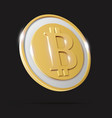 golden coin with bitcoin sign crypto money vector image