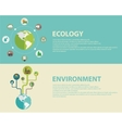 Green energy and pollution vector image vector image