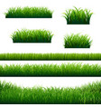 green grass borders big collection vector image vector image