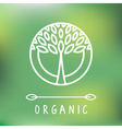green logo template vector image vector image