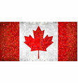 grunge mosaic flag of canada vector image