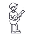 guitar playerflamenco line icon sign vector image vector image