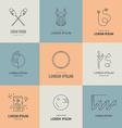Gymnastics Logos vector image vector image