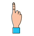 hand show forefinger finger pointing first vector image vector image