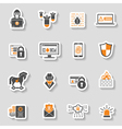 Internet Security Icon Sticker Set vector image vector image