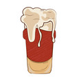 isolated beer glass vector image vector image