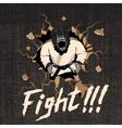 judoka-gorilla hit a wall vector image