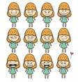 Lady girl Girl women cartoon vector image