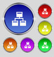 Local Network icon sign Round symbol on bright vector image