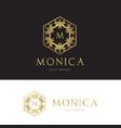 luxury logo crests logo logo design for hotel vector image vector image