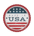 made in usa vintage badge seal vector image vector image