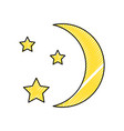 moon with stars vector image vector image