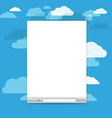 Opened browser windows template Past your content vector image vector image