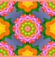 orange green and violet colors ethnic mandalas vector image