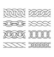 outline chain patterns vector image vector image