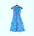 party dress with flower print vector image vector image