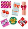 patterned gift boxes vector image