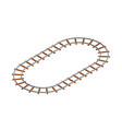 railway track frame isolated on white background vector image vector image
