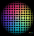 rainbow background with spectrum cell vector image vector image