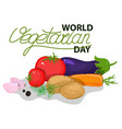 round frame from vegetables vegetarian vector image vector image