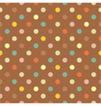Seamless colorful polka dots autumn pattern vector image vector image