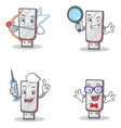 set of flashdisk character with cupid detective vector image vector image