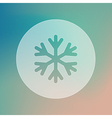 Snowflake Snow transparent icon Weather vector image